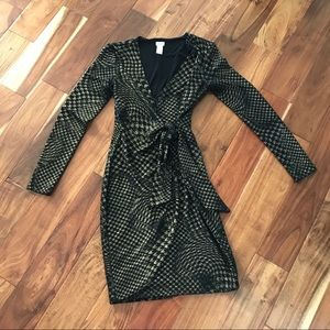 Perfect Holiday Dress Black and Gold